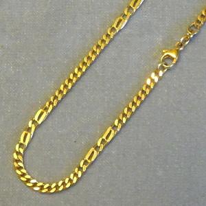 130103 Flachpanzerkette in 333-Gold, Schmuck gebraucht, Second Hand / Goldschmiede Karl Spörl in Hof/Saale