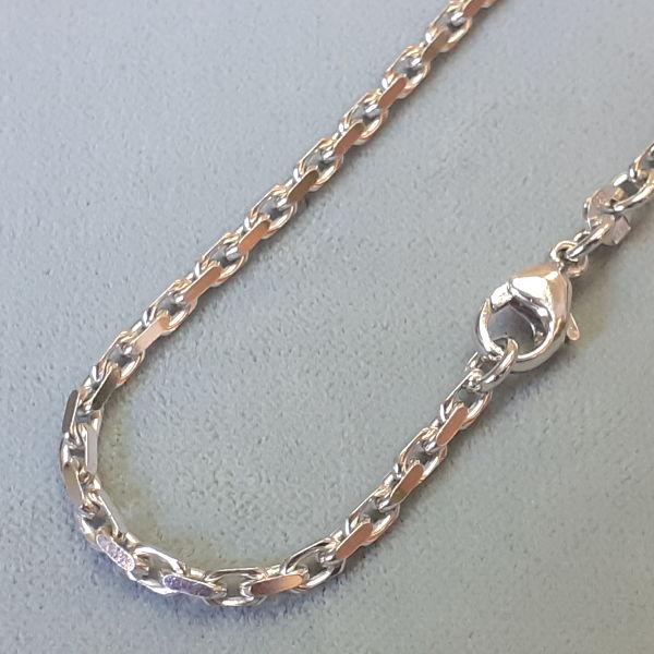 # 130133  Kette in Silber/rhod.