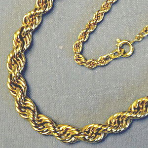 131115 Kordelkette in 333-Gold, Schmuck gebraucht, Second Hand / Goldschmiede Karl Spörl in Hof/Saale