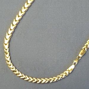 131116 Kette in 585-Gold, Schmuck gebraucht, Second Hand / Goldschmiede Karl Spörl in Hof/Saale