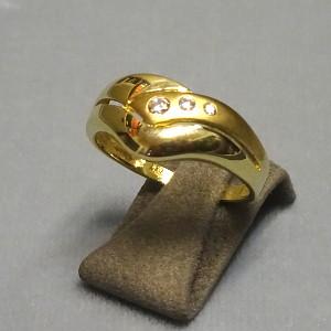 210213  Damenring in 333-Gold, Schmuck gebraucht, Second Hand / Goldschmiede Karl Spörl in Hof/Saale