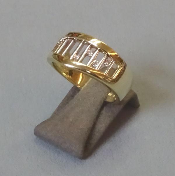 210265 Damenring in 585-Gold, Schmuck gebraucht, Second Hand / Goldschmiede Karl Spörl in Hof/Saale