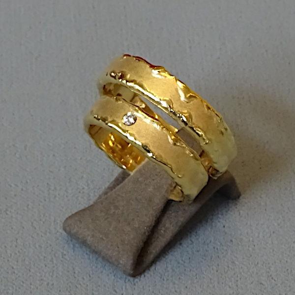 230237  Trauringe in 585-Gold, Schmuck gebraucht, Second Hand / Goldschmiede Karl Spörl in Hof/Saale