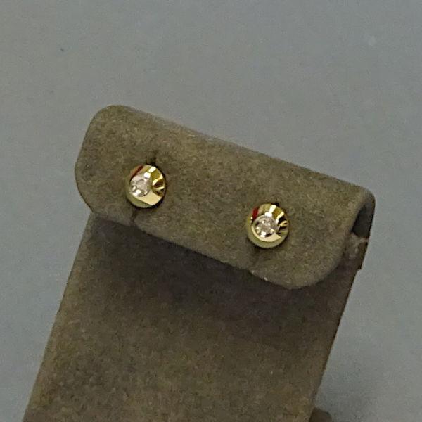 310324  Ohrstecker in 585-Gold, Schmuck gebraucht, Second Hand / Goldschmiede Karl Spörl in Hof/Saale