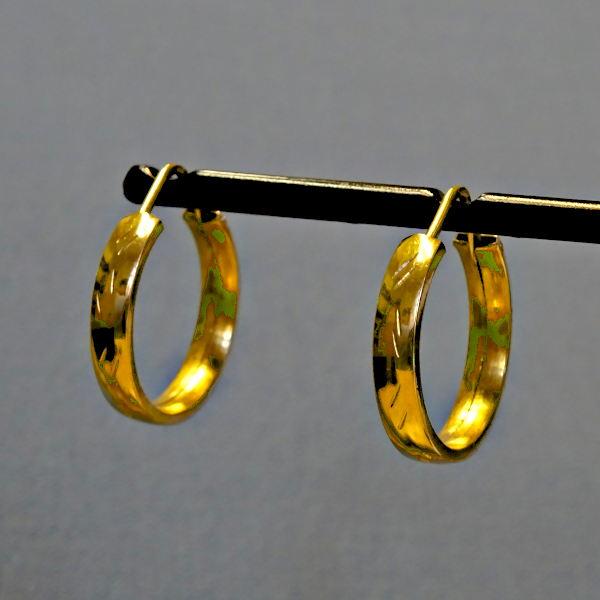 355304 Creolen in 750-Gold, Schmuck gebraucht, Second Hand / Goldschmiede Karl Spörl in Hof/Saale