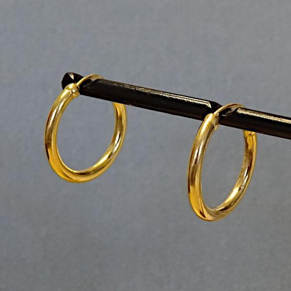 355305 Creolen in 585-Gold, Schmuck gebraucht, Second Hand / Goldschmiede Karl Spörl in Hof/Saale