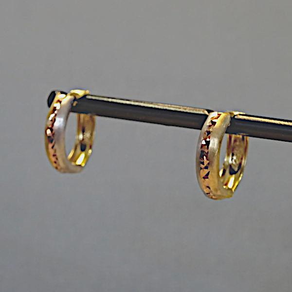 355308 Scharniercreolen in 333-Gold, Schmuck gebraucht, Second Hand / Goldschmiede Karl Spörl in Hof/Saale
