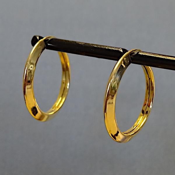 355309 Creolen in 585-Gold, Schmuck gebraucht, Second Hand / Goldschmiede Karl Spörl in Hof/Saale
