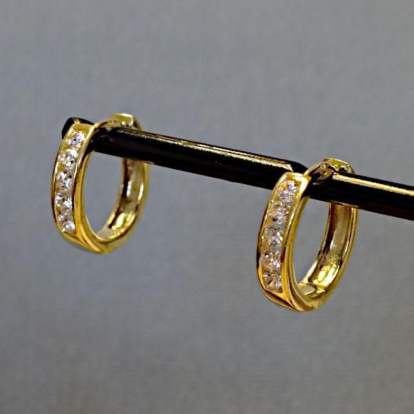 355310 Scharniercreolen in 333-Gold, Schmuck gebraucht, Second Hand / Goldschmiede Karl Spörl in Hof/Saale