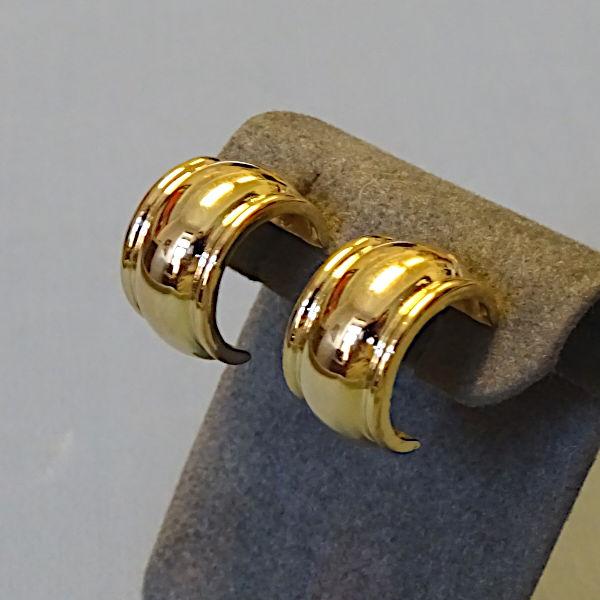 355313 Steckercreolen in 585-Gold, Schmuck gebraucht, Second Hand / Goldschmiede Karl Spörl in Hof/Saale