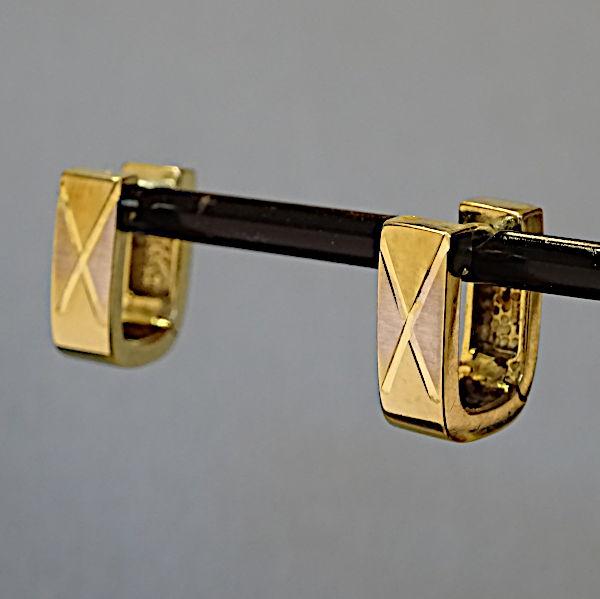355314 Scharniercreolen in 333-Gold, Schmuck gebraucht, Second Hand / Goldschmiede Karl Spörl in Hof/Saale