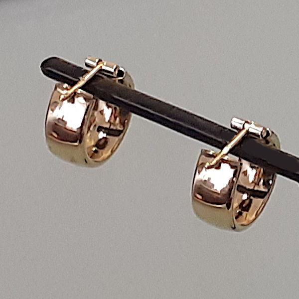 355318 Creolen in 585-Gold, Schmuck gebraucht, Second Hand / Goldschmiede Karl Spörl in Hof/Saale