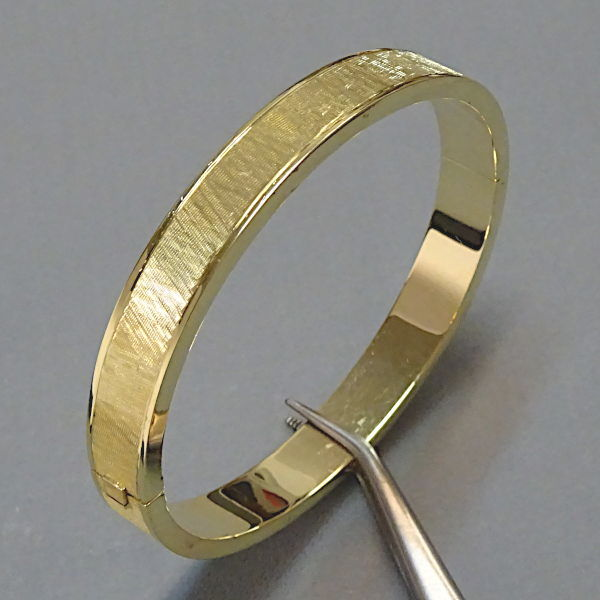 490451  Armreif in 585-Gold, Schmuck gebraucht, Second Hand / Goldschmiede Karl Spörl in Hof/Saale