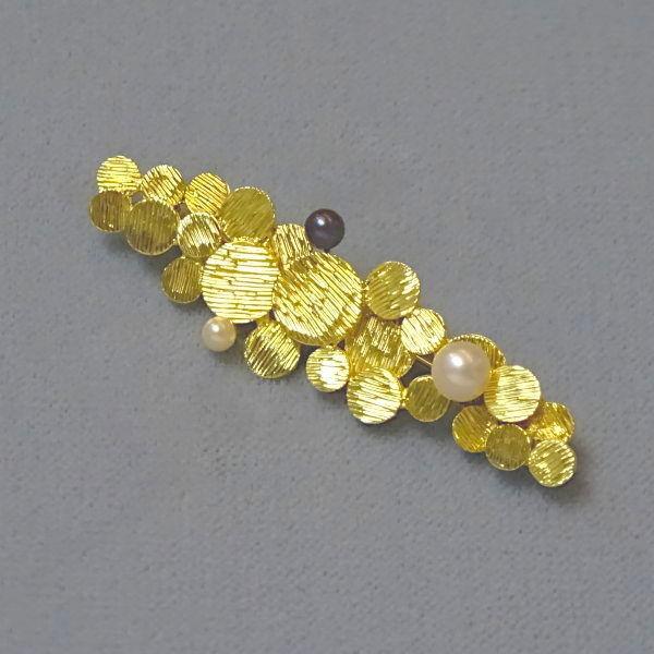 500502  Brosche in 585-Gold, Schmuck gebraucht, Second Hand / Goldschmiede Karl Spörl in Hof/Saale