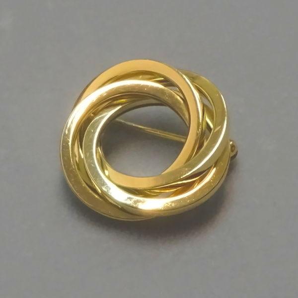 500505  Brosche in 585-Gold, Schmuck gebraucht, Second Hand / Goldschmiede Karl Spörl in Hof/Saale