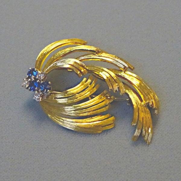 500510  Brosche in 750-Gold, Schmuck gebraucht, Second Hand / Goldschmiede Karl Spörl in Hof/Saale