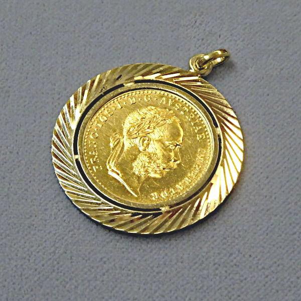 # 600627  Münzanhänger in 585-Gold