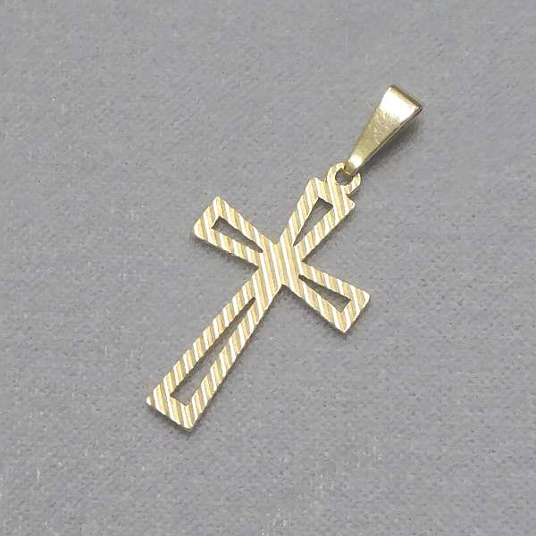 610605 Anhänger / Kreuz in 585-Gold, Schmuck gebraucht, Second Hand / Goldschmiede Karl Spörl in Hof/Saale