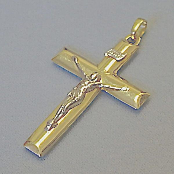 # 610608  Anhänger / Kreuz in 585-Gold