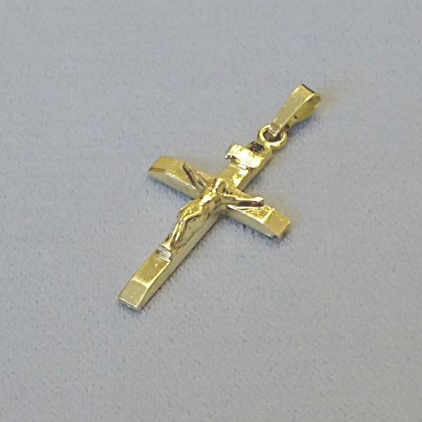 610613 Anhänger / Kreuz in 585-Gold, Schmuck gebraucht, Second Hand / Goldschmiede Karl Spörl in Hof/Saale