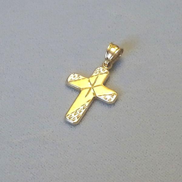 # 610614  Anhänger / Kreuz in 585-Gold