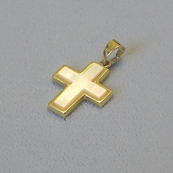 610615  Anhänger / Kreuz in 333-Gold, Schmuck gebraucht, Second Hand / Goldschmiede Karl Spörl in Hof/Saale