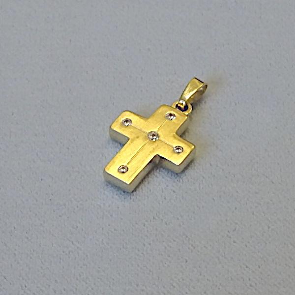 610616 Anhänger / Kreuz in 333-Gold, Schmuck gebraucht, Second Hand / Goldschmiede Karl Spörl in Hof/Saale