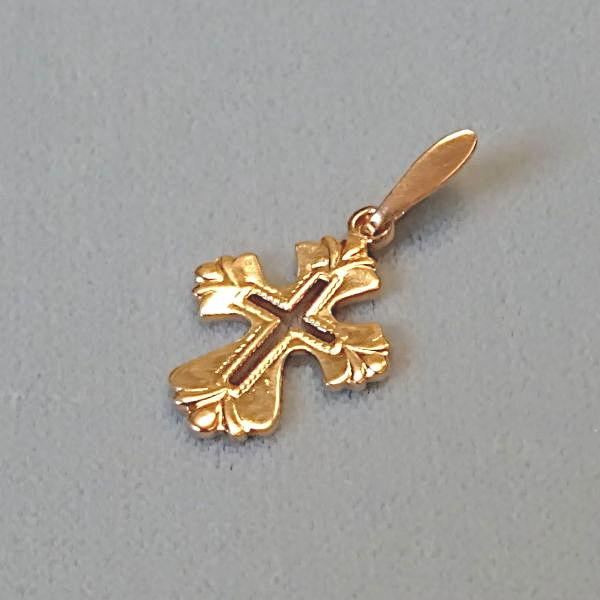 610631 Anhänger / Kreuz in 585-Gold, Schmuck gebraucht, Second Hand / Goldschmiede Karl Spörl in Hof/Saale