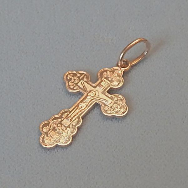 # 610633  Anhänger / Kreuz in 585-Gold