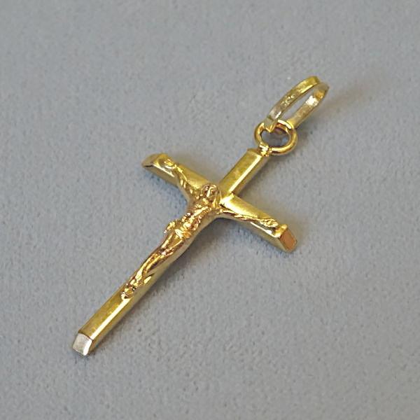 610637 Anhänger / Kreuz in 333-Gold, Schmuck gebraucht, Second Hand / Goldschmiede Karl Spörl in Hof/Saale