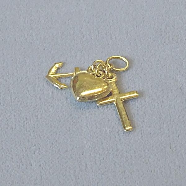 670604 Motivanhänger in 585-Gold, Schmuck gebraucht, Second Hand / Goldschmiede Karl Spörl in Hof/Saale