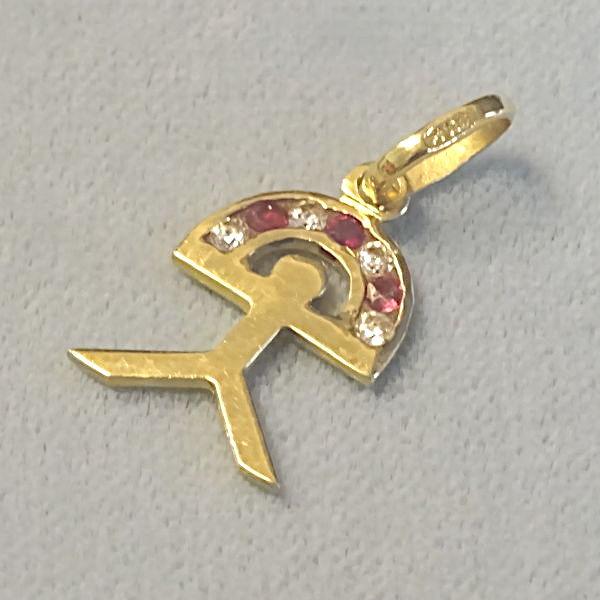 670607  Motivanhänger in 750-Gold, Schmuck gebraucht, Second Hand / Goldschmiede Karl Spörl in Hof/Saale