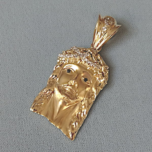 670612 Motivanhänger in 585-Gold, Schmuck gebraucht, Second Hand / Goldschmiede Karl Spörl in Hof/Saale