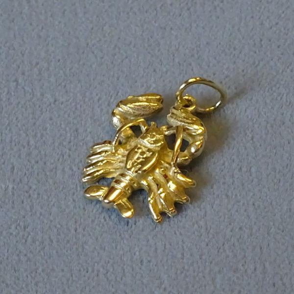 690401 Tierkreiszeichen in 585-Gold, Schmuck gebraucht, Second Hand / Goldschmiede Karl Spörl in Hof/Saale
