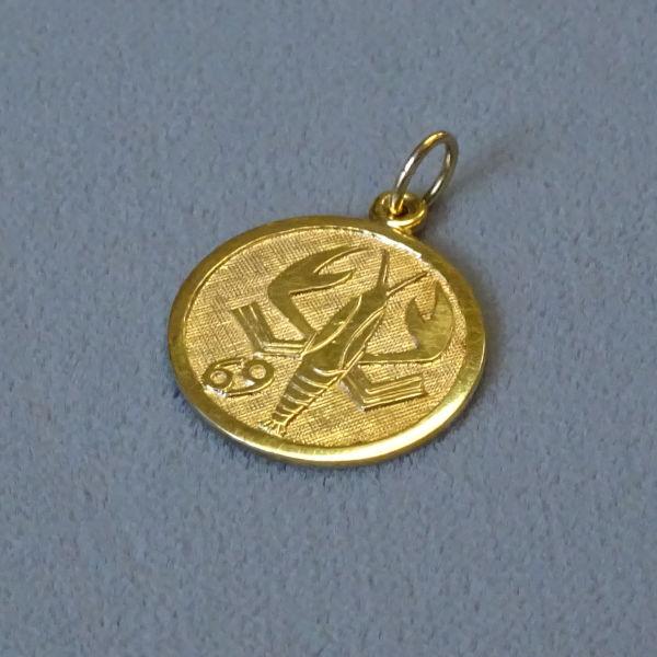 690402  Tierkreiszeichen in 333-Gold, Schmuck gebraucht, Second Hand / Goldschmiede Karl Spörl in Hof/Saale