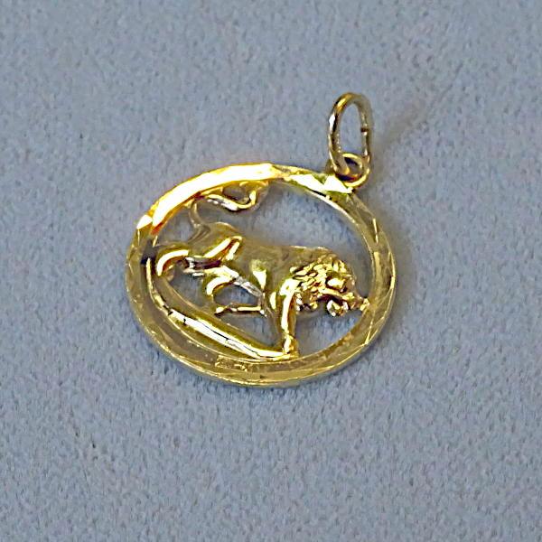 690502 Tierkreiszeichen in 333-Gold, Schmuck gebraucht, Second Hand / Goldschmiede Karl Spörl in Hof/Saale