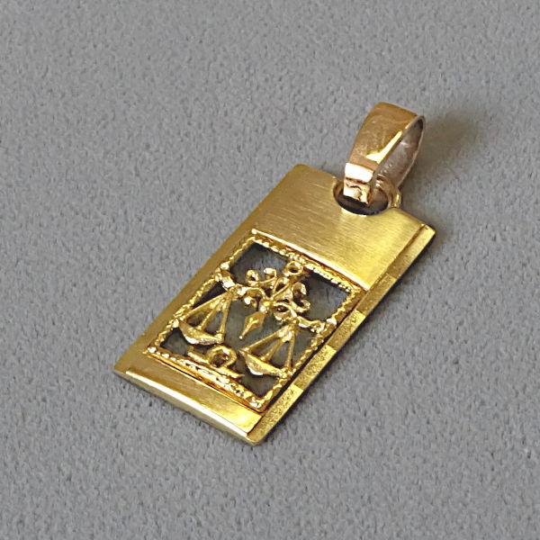690701 TKZ Waage in 333-Gold, Schmuck gebraucht, Second Hand / Goldschmiede Karl Spörl in Hof/Saale