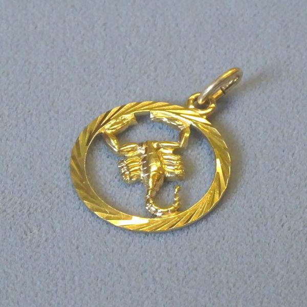 690801 Tierkreiszeichen in 333-Gold, Schmuck gebraucht, Second Hand / Goldschmiede Karl Spörl in Hof/Saale