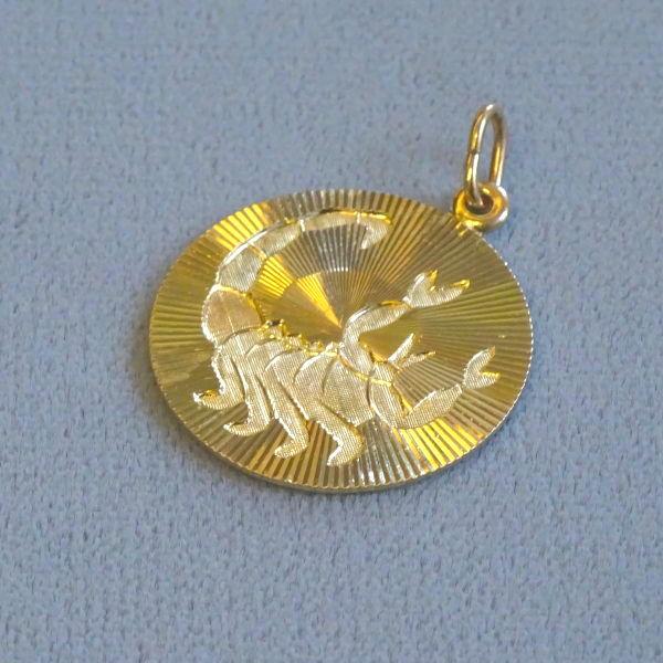 690802  Tierkreiszeichen^300 in 333-Gold, Schmuck gebraucht, Second Hand / Goldschmiede Karl Spörl in Hof/Saale