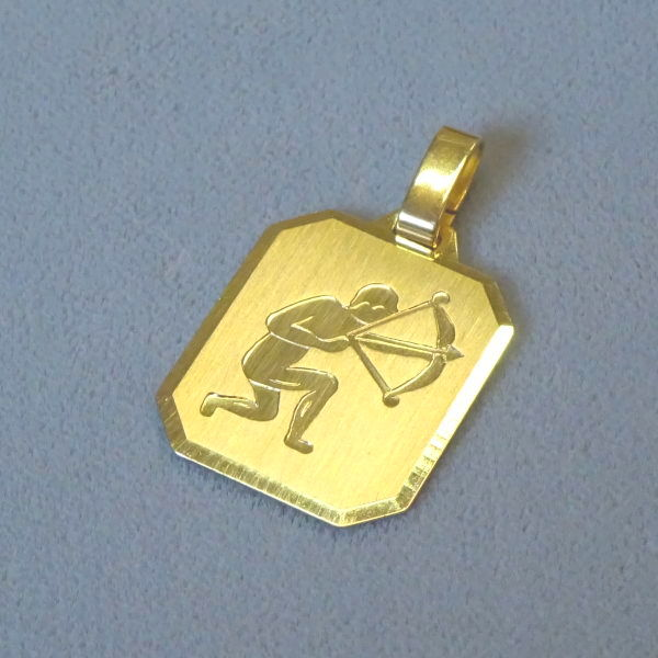 690901  Tierkreiszeichen in 333-Gold, Schmuck gebraucht, Second Hand / Goldschmiede Karl Spörl in Hof/Saale