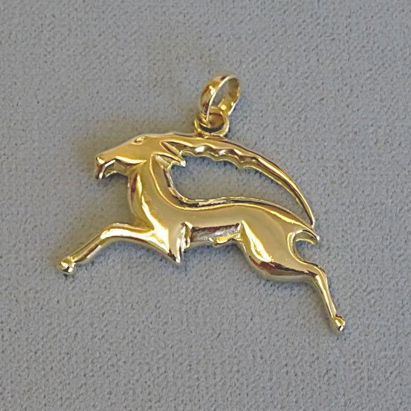 691001 Tierkreiszeichen in 585-Gold, Schmuck gebraucht, Second Hand / Goldschmiede Karl Spörl in Hof/Saale