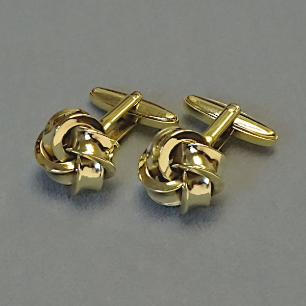 780506 Manschettenknöpfe in 585-Gold, Schmuck gebraucht, Second Hand / Goldschmiede Karl Spörl in Hof/Saale