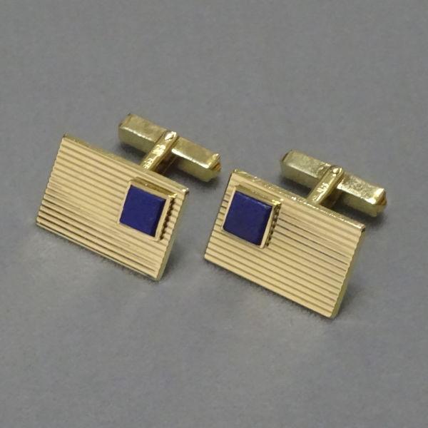 # 780508  Manschettenknöpfe in 585-Gold