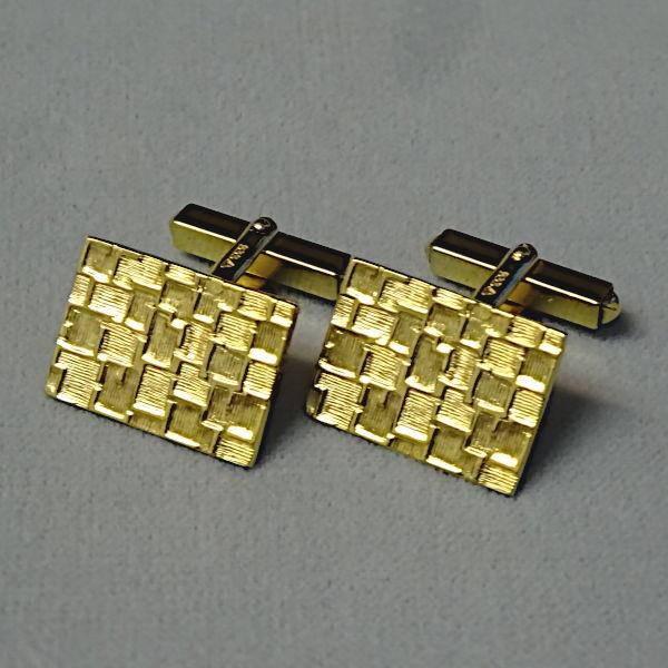 780509 Manschettenknöpfe in 333-Gold, Schmuck gebraucht, Second Hand / Goldschmiede Karl Spörl in Hof/Saale