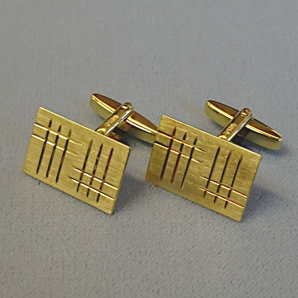 780701 M-Knöpfe in 585-Gold, Schmuck gebraucht, Second Hand / Goldschmiede Karl Spörl in Hof/Saale