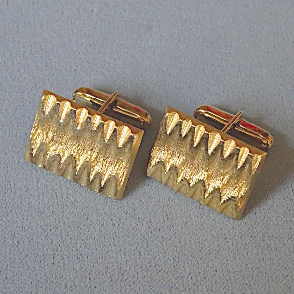 780703 Manschettenknöpfe in 585-Gold, Schmuck gebraucht, Second Hand / Goldschmiede Karl Spörl in Hof/Saale