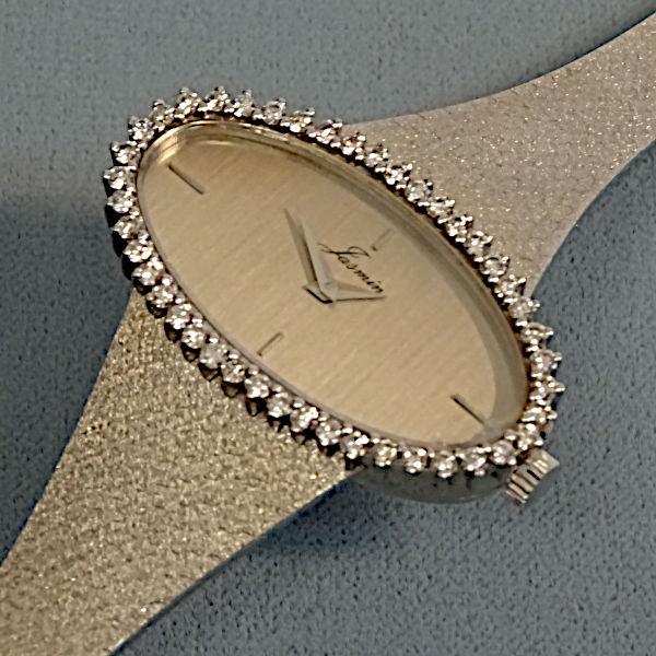 810804 Damen-Armbanduhr in 750-Weißgold, Schmuck gebraucht, Second Hand / Goldschmiede Karl Spörl in Hof/Saale