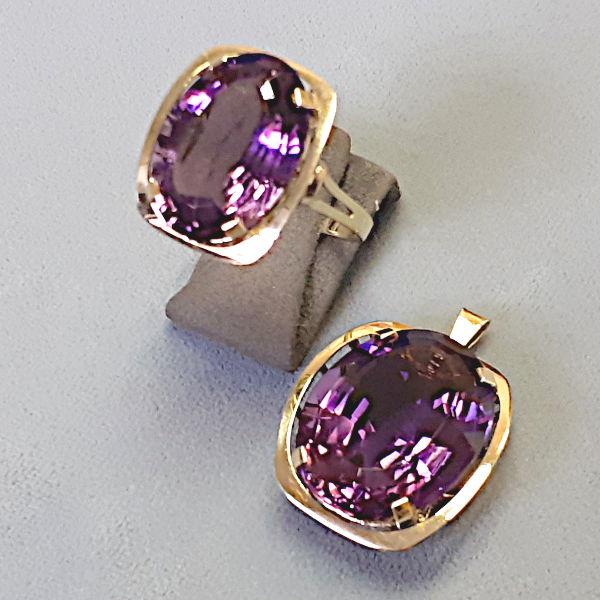 # 950901  Ring und Anhänger in 585-Gold