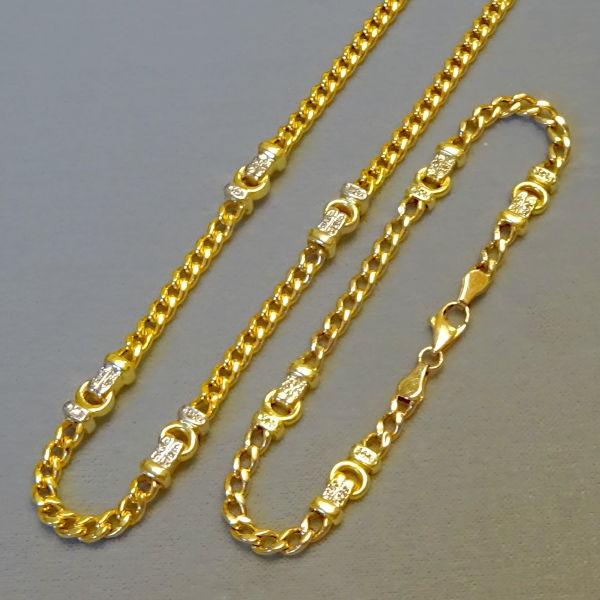 # 950902  Kette und Band in 585-Gold