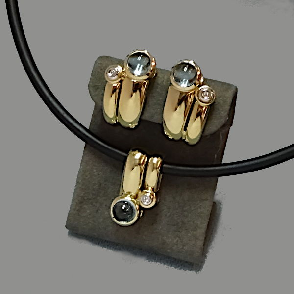 950908  Schmuckset in 585-Gold, Schmuck gebraucht, Second Hand / Goldschmiede Karl Spörl in Hof/Saale
